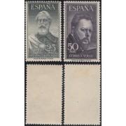 España Spain 1124/25 1953 Legazpi y Sorolla MH Sombras