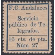 España Spain Telégrafos Particulares 6 1883 Ferrocarriles Andaluces MH