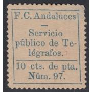 España Spain Telégrafos Particulares 3a 1883 Ferrocarriles Andaluces MH