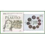 Italia  2016 Cartera Oficial Monedas € euros Tito Maccio Plauto