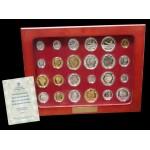 España Spain Emisión Réplicas 24 Monedas Plata y Oro Historia Peseta