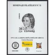 España Spain Homenaje Filatélico 11 2016 Reina Sofía de Grecia