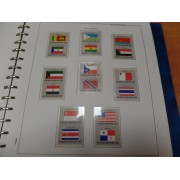 Colección Collection Naciones Unidas Banderas 1980 - 1986  Flag MNH