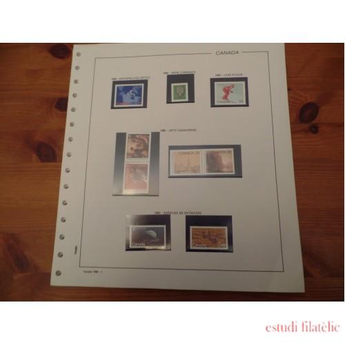 Colección Collection Canada 1980 -1984 MNH