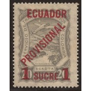 Ecuador A- 3 1928 Aéreo Avión Provisional MNH