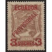 Ecuador A- 5 1928 Aéreo Avión Provisional MNH