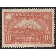 Ecuador A- 14 1929 Aéreo Catedral de Quito Chimborazo MH