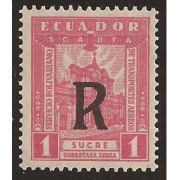 Ecuador A- 17 1929 Aéreo Catedral de Quito Chimborazo MH