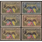 Ecuador A- 58/63 1938 Aéreo 150 Aniversario Constitución EEUU MH