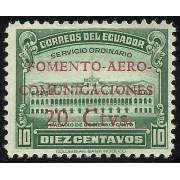 Ecuador A- 143a Variedad Aéreo Sobrecarga Roja Fomento Comunicaciones