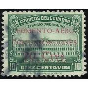 Ecuador A- 143a Variedad Aéreo Sobrecarga Roja Fomento Comunicaciones Usado