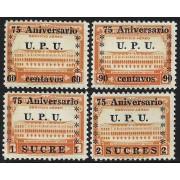 Ecuador A- 212/15 1949 Servicio Aéreo 75 Aniversario UPU MNH
