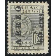 Ecuador A- 216 1949 Aéreo Servicio Consular Ecuatoriano MH