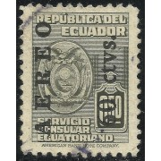 Ecuador A- 216 1949 Aéreo Servicio Consular Ecuatoriano Usado