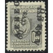Ecuador A- 216a 1949 Variedad Variety Doble Sobrecarga Servicio Consular MH