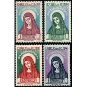 Ecuador A- 228/31 1952 Canonización de Santa María de Jesús Religión MNH