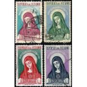Ecuador A- 228/31 1952 Canonización de Santa María de Jesús Religión Usados