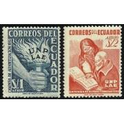 Ecuador A- 241/42 1953 Aéreo Campaña Alfabetización UNP LAE