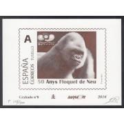 España Spain Grabado 8 Barnafil 2016 50 Av Floquet de Neu Copito de nieve Gorila Fauna