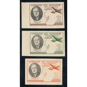 Ecuador S- 19/21 1949 Presidente Roosevelt Avión MNH