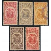 Ecuador Fiscales 96/01 96/101 1897 MH