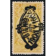 Ecuador Fiscales 137a 1903 Bienio Variedad Variety Doble sobrecarga
