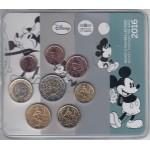 Francia France  2016  Cartera Oficial Euros € Disney Mickey