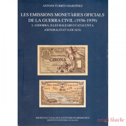 Catálogo Emisiones Monetarias Oficiales de la Guerra Civil 1936 - 1939