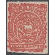 Ecuador 4 1866  Escudo de Armas Nuevo