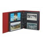 Lind-1300PK-W Postcard album; Multi collect; wine red