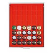 Champagne lid box (grey drawer, light red velour insert)