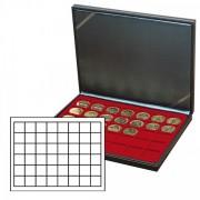 Lindner 2364-2748E Estuche NERA M inserto rojo oscuro con 48 compartimentos cuadrados
