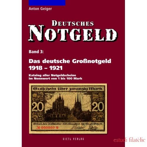 Lindner Das deutsche Großnotgeld 1918-1921, Band 3