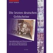 Lindner Die letzten deutschen Geldscheine