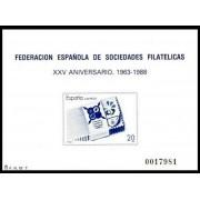 España Spain Prueba de lujo 16 1988 Aniversario Fesofi 88