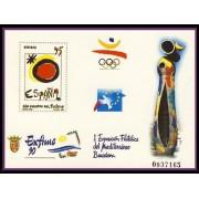 España Spain Prueba de lujo 22 1990 Mediterráneo Barcelona  Exfime 90