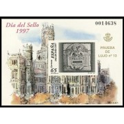 España Spain Prueba de lujo 62 1997 Día del Sello 97