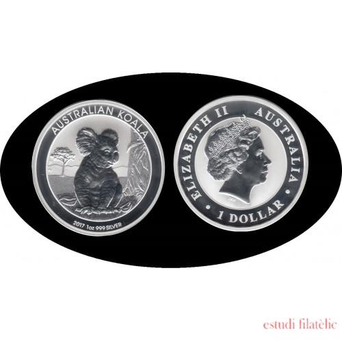 Australia 2017 1 OZ onza de plata 1 $ Dolar  Koala