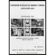 España Spain Prueba de lujo 3 1980 Espamer 80