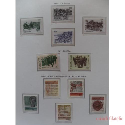 Colección Collection Feroe 1975 - 2002 MNH