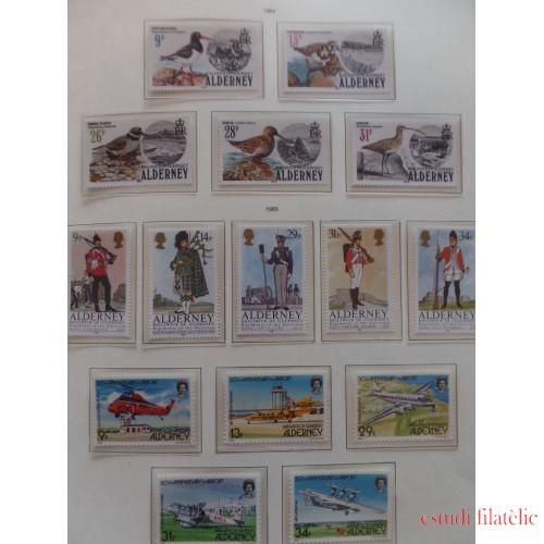 Colección Collection Alderney 1980 - 1989 MNH