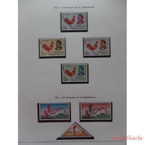 Colección Collection Guinea Ecuatorial de 1968-2003 MNH