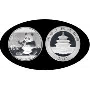 China 2017 1 OZ onza de plata Oso Panda Sylver Ag