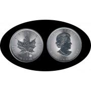 Canadá Canada 2017 1 Oz Plata Silver 5 $ Maple Leaf