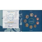 España Spain 2017 Cartera Oficial Euros 25 Av. Tratado + moneda 2€ Sta María