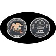 Mongolia 2005 1 OZ onza de plata  Sylver Ag Sumo japonés Color