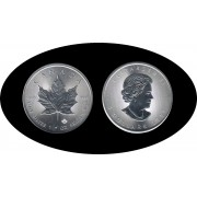 Canadá Canada 2017 1 Oz 5 $ Maple Leaf Plata Silver