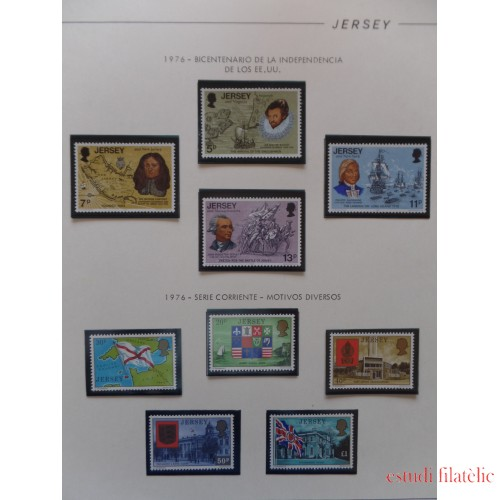 Colección Collection Islas Canal Guernesey Jersey Man 1974/76