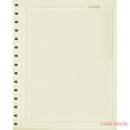 Hojas Sellos Edifil en blanco España Cartulina crema F cuadrícula Paq. 50 Hojas