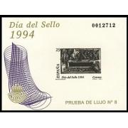 España Spain Prueba de lujo 31 1994 Día del Sello